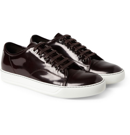 Lanvin Patent-Leather Sneakers