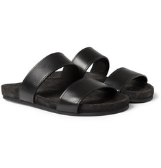 Lanvin Leather and Suede Sandals