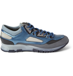 Lanvin Leather and Mesh Sneakers