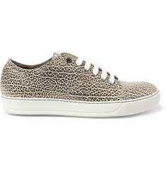 Lanvin Printed Full-Grain Leather Sneakers