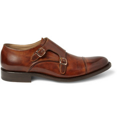 O'Keeffe Manach Hand-Polished Leather Monk-Strap Shoes