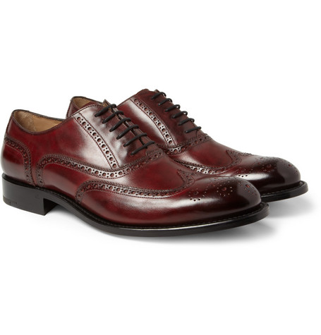 O'Keeffe Algy Hand-Polished Leather Wingtip Brogues