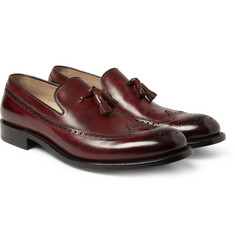 O'Keeffe Algy Hand-Polished Leather Brogue Loafers