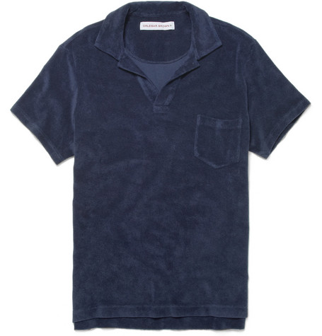 Cotton-terry Polo Shirt - Navy