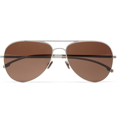 Mykita Bo Lightweight Stainless Steel Aviator Sunglasses