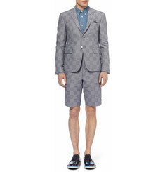 Thom Browne Slim-Fit Jacquard-Woven Cotton-Blend Suit Jacket