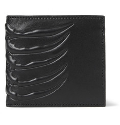 Alexander McQueen Embossed-Leather Billfold Wallet