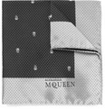 Alexander McQueen Skull-Patterned Silk Pocket Square