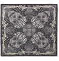 Alexander McQueen - Morphing Python and Skull-Print Scarf
