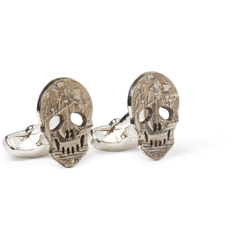 Paul Smith Shoes & Accessories Skull Coin Cufflinks