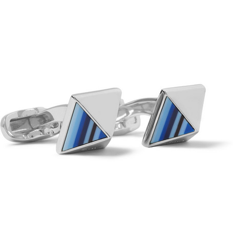 Paul Smith Shoes & Accessories Striped Pyramid Cufflinks