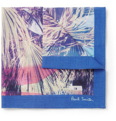Paul Smith Shoes & Accessories Photographic-Print Cotton Pocket Square