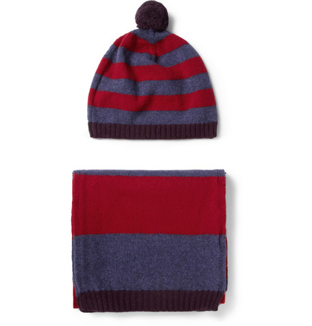 Paul Smith Shoes & Accessories Simple Simon Wool and Angora-Blend Hat and Scarf Set