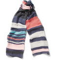 Paul Smith Shoes & Accessories Striped Cotton and Silk-Blend Scarf