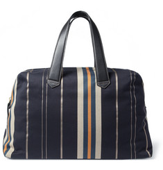 Paul Smith Shoes & Accessories Leather-Trimmed Striped Canvas Holdall