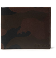 Paul Smith Shoes & Accessories Camouflage-Print Leather Billfold Wallet