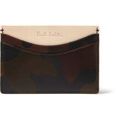 Paul Smith Shoes & Accessories Camouflage-Print Leather Card Holder