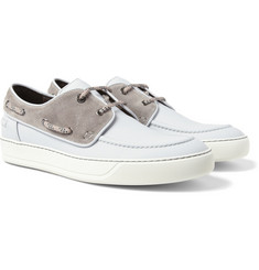 Lanvin Rubberised-Leather Boat Shoes