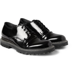 Lanvin High-Shine Leather Derby Shoes