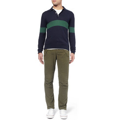 Michael Bastian Knitted Cotton Polo Shirt