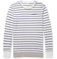 Michael Bastian - Striped Cotton and Linen-Blend T-Shirt