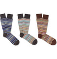 Paul Smith - Three-Pack Striped Cotton-Blend Socks