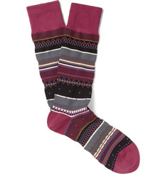 Paul Smith Shoes & Accessories Patterned Cotton-Blend Socks