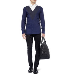 Neil Barrett Slim-Fit Panelled Cotton Shirt