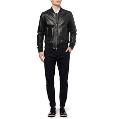Neil Barrett Leather Bomber Jacket