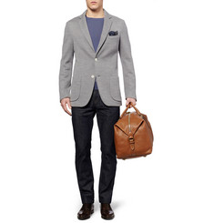 Brioni Unstructured Knitted Wool and Silk-Blend Blazer
