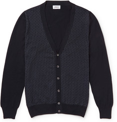 Brioni Wool and Silk-Blend Jacquard-Knit Cardigan