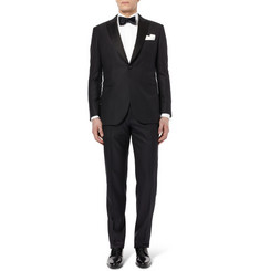 Brioni Black Waldorf Slim-Fit Wool-Jacquard Tuxedo