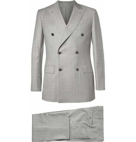 Brioni Grey Prince of Wales Check Wool Suit
