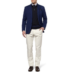 Brioni Merino Wool Long Sleeved Polo Shirt