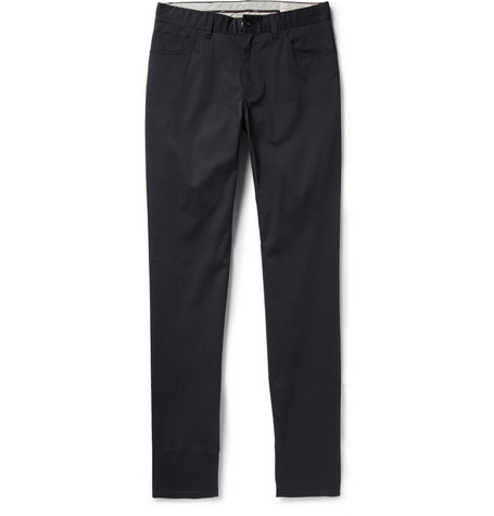 Brioni Slim-Fit Cotton-Twill Trousers