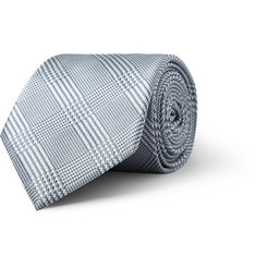 Brioni Prince of Wales Check Silk Tie
