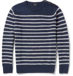 J.Crew Striped Merino Wool Sweater
