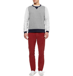 J.Crew Exeter Panelled Loopback Cotton-Jersey Sweatshirt