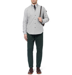 J.Crew Suede-Patch Cotton-Flannel Shirt
