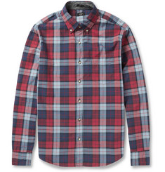 J.Crew Check Cotton Button Down Collar Shirt