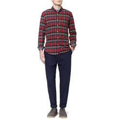 J.Crew Plaid Cotton Oxford Shirt