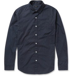 J.Crew Polka-Dot Print Cotton Shirt