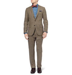 J.Crew Ludlow Slim-Fit Glen Plaid Wool-Blend Suit Jacket