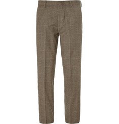 J.Crew Ludlow Slim-Fit Glen Plaid Wool-Blend Suit Trousers