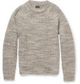 J.Crew - Suede Elbow Patch Wool-Blend Sweater