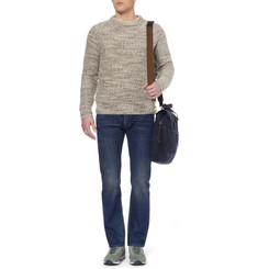 J.Crew Suede Elbow Patch Wool-Blend Sweater