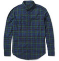 J.Crew Check Cotton Button-Down Collar Shirt