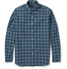 J.Crew Dobbs Check Washed Cotton Shirt
