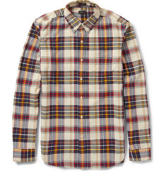 J.Crew Slim-Fit Check Cotton Oxford Shirt