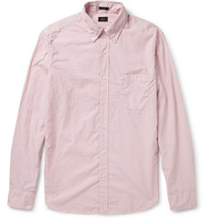 J.Crew Button-Down Collar Check Cotton Shirt